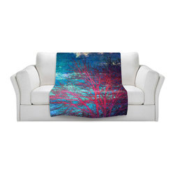 DiaNoche Designs - Throw Blanket Fleece - Abstract Tree II - Original Artwork printed to an ultra soft fleece Blanket for a unique look and feel of your living room couch or bedroom space.  DiaNoche Designs uses images from artists all over the world to create Illuminated art, Canvas Art, Sheets, Pillows, Duvets, Blankets and many other items that you can print to.  Every purchase supports an artist!