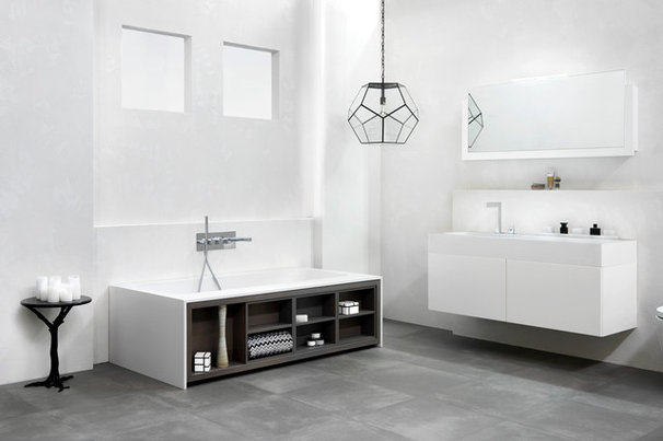Contemporary Bathroom Cabinets And Shelves by Blu Bathworks