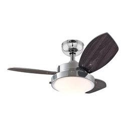 """Westinghouse Lighting - Westinghouse Lighting 30 Three Blade Reversible Indoor Ceiling Fan (7876300) - Westinghouse Lighting 7876300 30"""" Three Blade Reversible Indoor Ceiling Fan, Chrome"""