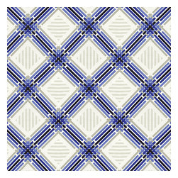 Blue & Black Criss Cross Outdoor Fabric - Modern diamond trellis of interlocking blue, black & gray on white indoor outdoor fabric.Recover your chair. Upholster a wall. Create a framed piece of art. Sew your own home accent. Whatever your decorating project, Loom's gorgeous, designer fabrics by the yard are up to the challenge!