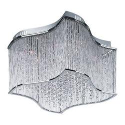 Maxim Swizzle Polished Chrome 19-Inch-W Ceiling Light -
