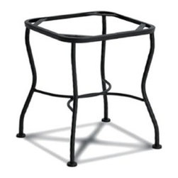 """Meadowcraft - Meadowcraft Table Wrought Iron End Table Tube Base - Meadowcraft is a leading domestic manufacturer of quality wrought iron furniture and cushions located in Wadley Alabama.  With traditional and post war modern styles utilizing subtle understated designs Meadowcraft furniture is an excellent addition to any home. Whether choosing the deep seating comfort of a cushioned loveseat or the comfortable durability of a commercial grade mesh bistro chair you are invited to relax in all of Meadowcrafts products.  Meadowcraft takes the """"made in the U.S.A."""" label seriously and strives to exceed its perceived responsibilities to their customers and community.  Features include Made of extremely durable wrought iron material Hand formed by skilled craftsmen to insure the strongest furniture in the industry Offered in wide selection of powder coated finishes manufactured to prevent rust."""
