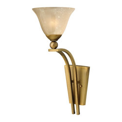 Hinkley Lighting - Hinkley Lighting 4670BR Hinkley Lighting 4670OB Olde Bronze 1 Light 20.5 Height - Hinkley Lighting 4670 Bolla 1 Light Wall Sconce The graceful lines of Bollas sweeping double arms create a soft elegance while heavy cast spheres perched