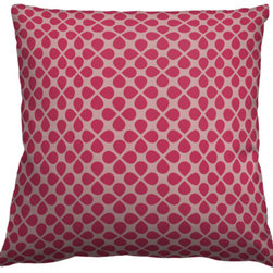 Guildery - Square Pillow Cover in Flower - 24x24 knife edge pillow cover with concealed zipper, no piping. Pillow insert not included.