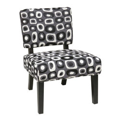 Twilight Grey Accent Chair - Avenue Six Jasmine Accent Chair - - Covered in High Performance, Easy Care Fabric Accent Chair