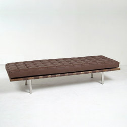 Modern Classics - Mies van der Rohe: Barcelona 3-seater Bench Reproduction - Features: