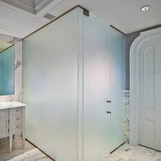 Beach Style Bathroom by New York Shower Door