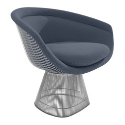 Knoll - Platner Lounge Chair, Nickel - The Platner Lounge Chair is an icon of the 1960s modern design movement. Combining style and comfort, the Platner Lounge Chair offers a truly modern touch to your home. Thin wire rods comprise the chair's back and base to eye-catching effect. For a visually stunning piece that provides plenty of comfort and iconic design, look to the Platner Lounge Chair from Knoll.