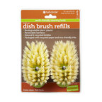 Full Circle - Full Circle Home Suds Up Dish Brush Refill Green - 24 Pack - Clean green with these disposable brush heads. Completely biodegradable, you can throw them away without contributing to the planet's waste problem. They snap right on to the hand of your brush and dispense soap just like the original.