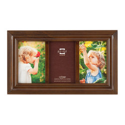 Origin Crafts - Eastman walnut 3 picture collage frame (4x6) - Eastman Walnut 3 Picture Collage Frame (4x6) Natural Pine wood, two-way easel, wall hangers. Dimensions (in): By Prinz - Prinz is a leading supplier of picture frames. At Prinz they are committed to offering unsurpassed design, quality, and value. Ships within five business days.