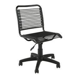 Euro Style - Euro Style Bungie Low Back Office Chair 02541 - Bungie goes hi-tech. Or is it lo-tech? Either way, this is the Bungie made for fun. Any color loops you choose, this one is bound to brighten up an office or a kid's room. Game on.