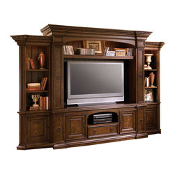 Universal - Universal Furniture Bolero Complete Home Entertainment Wall in Old World - Universal Furniture is recognized as a leader in exceptionally  crafted furnishings for the home including complete bedroom, dining  room, and occasional products, plus entertainment centers, wall units  and home office selections.