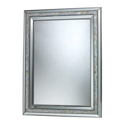 Sterling - Sterling DM1948 Sardis Mirror In Brushed Steel And Mother Of Pearl Shell - Sterling DM1948 Sardis Mirror In Brushed Steel And Mother Of Pearl Shell