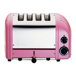 Dualit - Dualit 4-Slice Toaster Petal Pink/Chrome - The Dualit Classic NewGenToaster combines simplicity and sophistication perfectly.