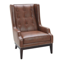 Bold Wing Chair in Leather, Cognac - Bold Wing Chair in Leather