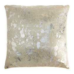 Owen Barry Argento Spot Pillow - You and your bedscape deserve a little bling, don't you? Why not add it with this super-luxe silver spotted pillow? It's also available in gold, if that goes better with you or your bed's skin tone!