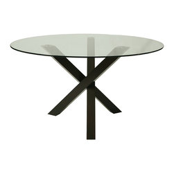 Pastel - Dining Table in Ballarat Black Finish - The Effervescence round dining table is a beautifully made table that will add style and beauty to your dining area.