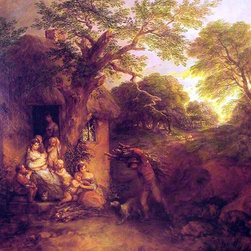 "Thomas Gainsborough The Woodcutters' Return - 16"" x 20"" Premium Archival Print - 16"" x 20"" Thomas Gainsborough The Woodcutters' Return premium archival print reproduced to meet museum quality standards. Our museum quality archival prints are produced using high-precision print technology for a more accurate reproduction printed on high quality, heavyweight matte presentation paper with fade-resistant, archival inks. Our progressive business model allows us to offer works of art to you at the best wholesale pricing, significantly less than art gallery prices, affordable to all. This line of artwork is produced with extra white border space (if you choose to have it framed, for your framer to work with to frame properly or utilize a larger mat and/or frame).  We present a comprehensive collection of exceptional art reproductions byThomas Gainsborough."
