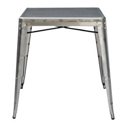 Crosley - Amelia Metal Cafe Table - Originally made famous in the quaint bistros of France, these midcentury replicas of original cafe tables will offer a dose of nostalgia combined with careful consideration for your wallet.  This inspired revival evokes a sense of a true vintage find.