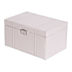Mele Gillian Locking Drop Front 4-Drawer Bonded Leather Jewelry Box - 8.5W x 6.8