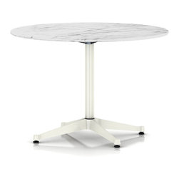 "Herman Miller - Eames Outdoor Table - 42"" Round - Think beyond wicker and wire for your outdoor patio furniture. This modern Eames marble table is stylish enough for your interiors, durable under weather and primed for your next al fresco dinner."