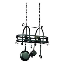 Artcraft Lighting - Artcraft Lighting AC1798EB 2 Light Pot Racks Collection Kitchen Island Fixture - Pot Racks 2 Light island features hand forged and carefully shaped arms in stainless steel finish, constructed with reinforced grids and hooks, the design allows you to hang and display your best pots and pans.Features: