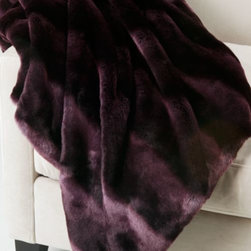 Z Gallerie - Zambia Throw - Faux in fur, but certainly not faux in warmth or softness, the aubergine Zambia Throw will take away the winter chill and replace it with a blanket of coziness. The irresistible supple texture and layered aubergine tones make this blanket a functional decorative item for the home. Exclusive to Z Gallerie.