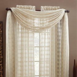 """Croscill - Croscill Wicker Linen Rod Pocket Window Curtain Panels - These beautiful, sheer panels are made with a unique technique that mimics the texture of wicker. Classic and versatile, you can layer panels on your windows or use them as a free-standing treatment. Panels are sold individually and measure 52"""" wide."""