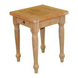"Teak Taft 21"" Square End Table - The perfect addition to benches, sofas and more can be found in our Teak Taft End Table.  It looks great indoors, but can also hold its own outdoors in any type of weather. Grade A teak and a hand-carved design allows this table to look great in any home, blending easily with your existing furniture and adding an element of quiet luxury to your decor.  Unique, elegant design makes this table an eye-catching conversation piece. The legs have been carved with beveled edges and chic accents, while the tabletop consists of a collection of teak beam laid side by side, rather than one solid piece, The entire unit has been smoothly finished and left unstained to showcase the natural, blonde-brown variations in the wood.  Aside from a charming exterior, the natural qualities inherent in long-lasting teak keep furniture looking its best year after year with little maintenance required. Internally produced resin oils keep the heartwood healthy, while teak is also naturally resistant to the elements and will not crack, warp, rot or become infested like lesser wooden furniture. If that weren't enough, we offer a 3-year warranty on all of our products."