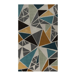Surya - Surya Cosmopolitan COS9199 Indoor Area Rug - Ivory Ivory White - COS9199-23 - Shop for Rugs and Runners from Hayneedle.com! Fractured and funky the Surya Cosmopolitan COS9199 Indoor Area Rug - Ivory gives any room a sleek modern appeal. The colorful geometric design levels up the style no matter where you place it.Note: Due to individual computer monitor settings actual colors may vary slightly from those you see on your screen.About Surya RugsSince 1976 Surya has established itself as one of India's leading producers of fine hand-knotted hand-tufted and flat-woven rugs. Their products are sold in the U.S.A. at respected department and specialty stores. The company is known for its quality value dedication and innovation. This includes responsibility for the entire process - spinning dyeing weaving and finishing. Surya prides itself on using the best raw material available for the production of their rugs. They are proud members of Wools of New Zealand. From design concept through production a Surya family member is involved making sure that the highest standards are being met at each level. Surya works with top designers and constantly updates their designs and color palettes to match and set the trends in design and fashion for the home. Surya always means a fine choice in rugs.