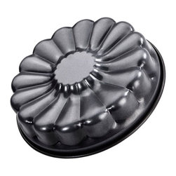 Frieling - Cake Pan Flower, 11 X 2.50 - Adds a beautiful floral decoration to any cake. Non-stick collar for perfect release. Zenker pans are constructed of steel for great heat conduction. Enamel coated inside and out is applied under 1832-degrees Fahrenheit. This high temperature makes the surface extremely resistant to high temperature baking and cut resistant. Dishwasher safe and easy to clean.