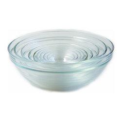 Duralex - Duralex - Lys Stackable Clear Bowls, Set of 10 Different Sizes - Set includes 10 sizes bowls: 6cm, 7.5cm, 9cm, 10.5cm, 12cm, 17cm, 20cm, 23cm, 26cm and 31cm