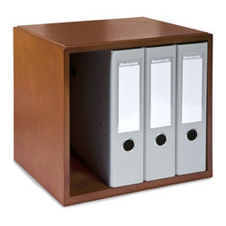 Empire Office Solutions - Empire Office Solutions Stack and Style Desk Organizers Storage Cube in Cherry - Organize books, magazines, binders and supplies in this stacking cube. Mix and match the cube with other stack and style desk accessories to create your own custom desk set. The cube features routed edges to stack securely with the entire stack and style collection of drawers, paper trays, and file organizers.