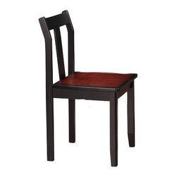 Linon Home Decor - Linon Home Decor Camden Chair X-U-DK-10-YHCKLB13046 - The Camden Collection has a transitional design and style. Perfect for small spaces, each item occupies minimal floor space but provides ample storage and display space. The rich Black Cherry finish exudes sophistication. The Camden Chair is ideal for providing seating at a desk or small table. The Chair features a straight lined design and wide seat. Perfect for using with the Camden Desk.