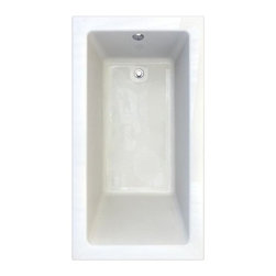 """American Standard - American Standard 2939.102.020 White Studio Studio 66"""" Acrylic Soaking - Product Features:Fully covered under a lifetime warranty; including free lifetime in-home serviceManufactured and assembled in CanadaSoaking tub; basic and easy to installAlcove installation: designed for niche / alcove installs; the three closed sides include a tile flange, open side includes a skirt leading down to the floorConstructed of ultra-durable fiberglass-reinforced acrylicSurfaced with the industry s best stain-blocking high-gloss finishTub proportions and contour designed by industry leading ergonomics engineersSlip-resistant flooring - textured finishing technique appliedSelf-leveling base structural support cuts installation time and costsTub waste (drain) is not included - this will be presented upon adding to cart, with multiple available finishesTechnologies / Benefits:Lifetime Warranty with In-Home Service: This tub is covered under the industry's only Limited Lifetime Warranty with free lifetime in-home service. This speaks volumes to the quality of American Standard tubs.Deep Soak: This patented overflow system works with an exclusive drain, positioned significantly higher within the bathing well. With water depths reaching 2"""" to 4"""" deeper than other bathtubs, Deep Soak tubs allow for better full-body submergence.Self-Leveling Base: A major time-saver during installation, this tub's self-leveling base eliminates the need to fret over a perfectly level base structural support… high-density compressible pads do the work for you, compensating for any imperfections. DIY'ers and contractors both appreciate this feature.Premium Acrylic: Luxury American Standard tubs all use premium acrylic for a reason: it retains a glossy finish, is flexible (will never chip, crack or craze), easy to clean, and far lighter"""