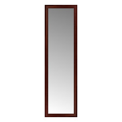 """Posters 2 Prints, LLC - 20"""" x 66"""" Ansley Mahogany Custom Framed Mirror - 20"""" x 66"""" Custom Framed Mirror made by Posters 2 Prints. Standard glass with unrivaled selection of crafted mirror frames.  Protected with category II safety backing to keep glass fragments together should the mirror be accidentally broken.  Safe arrival guaranteed.  Made in the United States of America"""