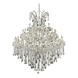 Elegant Lighting - Elegant Lighting 2801G60C/RC Maria Theresa Collection Large Hanging Fixture - Elegant Lighting 2801G60C/RC Maria Theresa Collection Large Hanging Fixture