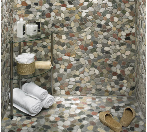 """My Work - Nothing screams, """"I'm on vacation in the tropics,"""" like these flat river pebbles."""