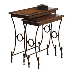 Hammary - Hidden Treasures 2 Pc Rectangular Nesting Tab - Includes two tables. Limited warranty. 28.5 in. W x 12.5 in. D x 26 in. H