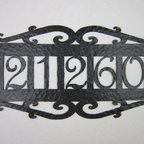 APH15 Spanish style wrought iron address plaques -