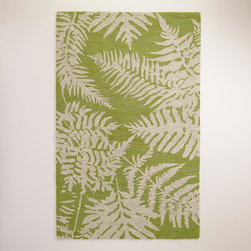 Fern Loop Indoor-Outdoor Rug - This fern rug is a great option. I love its beautiful color and large-scale pattern.