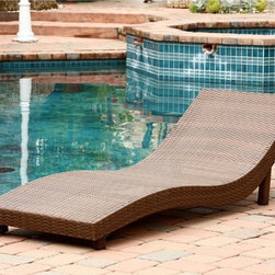 Abbyson Living - Abbyson Living Palermo Outdoor Brown Wicker Chaise Lounge - This Abbyson Living PE wicker outdoor chair set features an iron frame with a tightly woven PE wicker cover. They arrive fully assembled and ready to accommodate your family,friends and guests alike.