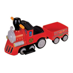 New Star - New Star My Mini Express Train with Trailer Battery Powered Riding Toy - Red Mul - Shop for Vehicles from Hayneedle.com! Let your toddler be the engineer of his own fate! The New Star My Mini Express Train with Trailer Battery Powered Riding Toy - Red is a unique way for little ones to get around and discover their space. This bright train moves at speeds that parents can handle going forward backward left and right via an easy rechargeable 6-volt battery. Playtime: 1-2 hours.
