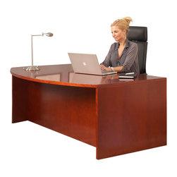 "Jesper Office Furniture - 4000 Series 71"" Curved Desk - Features:"