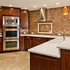 Contemporary Kitchen Countertops by Glass Recycled Surfaces