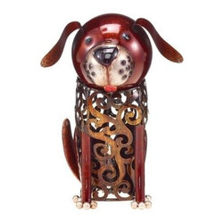 DecoFLAIR - Novelty Lamps: 8 in. Lighted Nightlite Hand Crafted Bronze Metal Dog Luminary Ta - Shop for Lighting & Fans at The Home Depot. The Deco Flair Home Accent Collection offers a variety of functional yet decorative product types. This exciting collection is a true fusion of home accents and gifts. Mirrors, candle holders, hurricane glasses, key hooks, decorative baskets and wall art are beautifully hand crafted and adorned with your favorite decorative motifs.