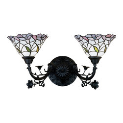 "Meyda Lighting - Meyda Lighting 27391 12.5""W Daffodil Bell 2 Lt Wall Sconce - Meyda Lighting 27391 12.5""W Daffodil Bell 2 Lt Wall Sconce"