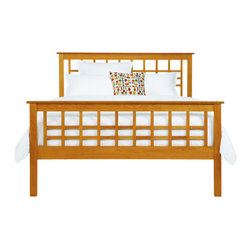 Vermont Furniture Designs - Craftsman Platform Bed, Full - The Craftsman Collection by Vermont Furniture Designs combines the clean lines of Mission furniture with Art Deco influence. The Craftsman bed is constructed using premium hardwoods, such as American black cherry, rock maple, and black walnut, sustainably harvested from forests in Ohio, Pennsylvania, and Vermont. The bed is bench-crafted by Vermont artisans using timeless techniques, such as mortise and tenon joinery and hand sanding. Each piece of wood is carefully matched for color and grain, and can be rejected by any of the craftsmen at any time in the process. The wood is finished with a natural oil and wax blend, which protects the piece while bring out the color, grain, and depth of the wood and allowing it to age beautifully. Unlike many chemical sealants, this eco-friendly, natural finish does not produce any VOCs.