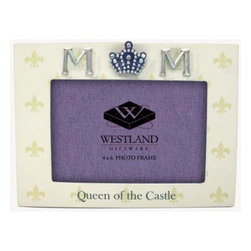 WL - 4 x 6 Inch Mom Queen of the Castle White and Fleur Resin Photo Frame - This gorgeous 4 x 6 Inch Mom Queen of the Castle White and Fleur Resin Photo Frame has the finest details and highest quality you will find anywhere! 4 x 6 Inch Mom Queen of the Castle White and Fleur Resin Photo Frame is truly remarkable.