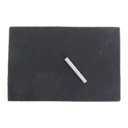Thirstystone - Slate Cheese Board with Chalk - This slate cheese board will allow you to know what you need to get from the market with ease. When someone uses the last of an item,they can use the chalk to make a note on the board so that you can be notified as to what is needed in the house.